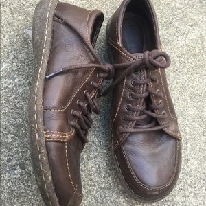 Women's Born Brown Leather Lace Up Shoes 9.5M